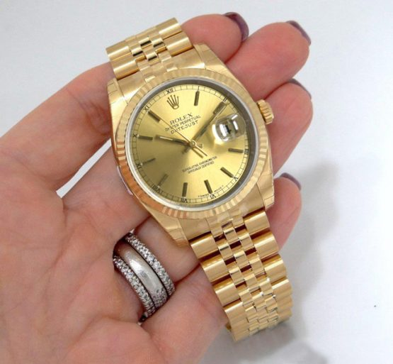 Rolex datejust full gold 36mm