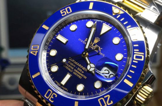 Rolex submariner blue two tone