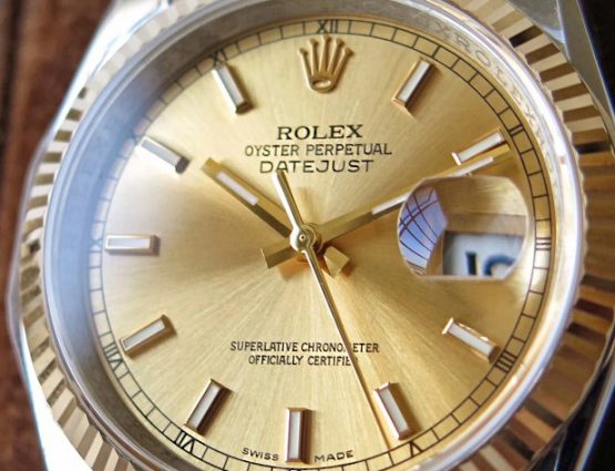 Rolex Datejust jubilee gold face