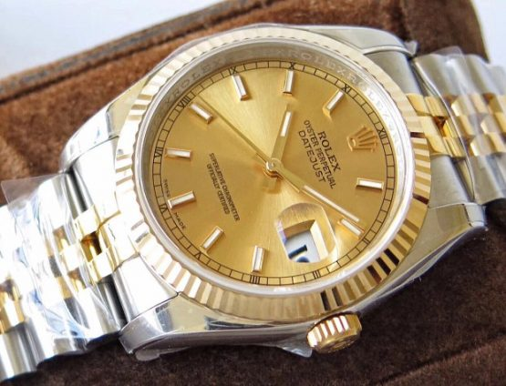 Rolex Datejust jubilee gold face 32mm