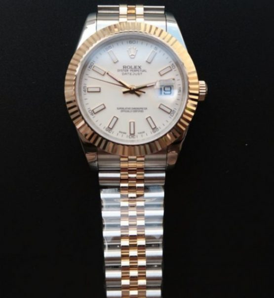 Rolex Datejust jubilee white face 40mm
