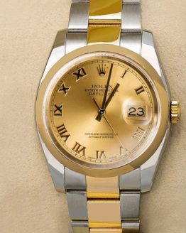 Rolex Datejust gold dial roman 32mm
