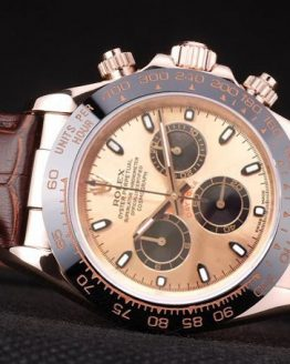 Rolex Daytona everose brown strap