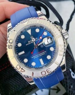 Rolex Yachtmaster blue dial rubber