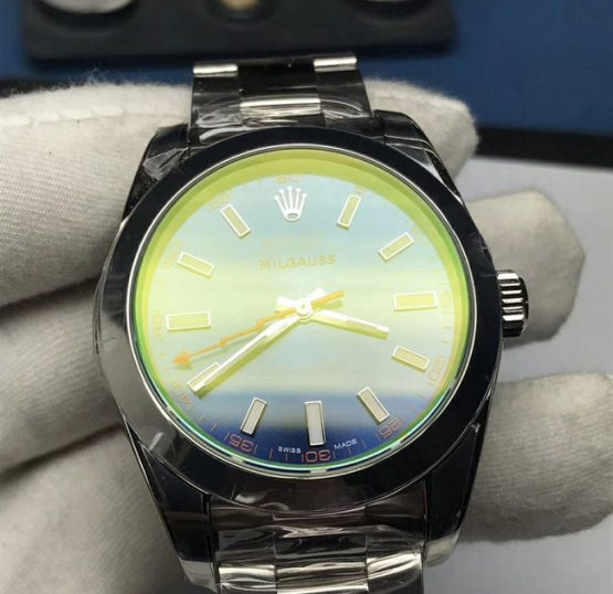 Milgauss blue face replica