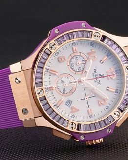 Hublot big bang ladies purple