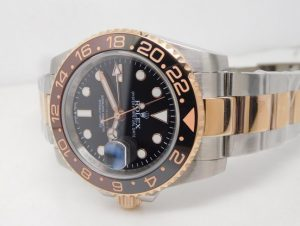 Rolex gmt two tone rose gold